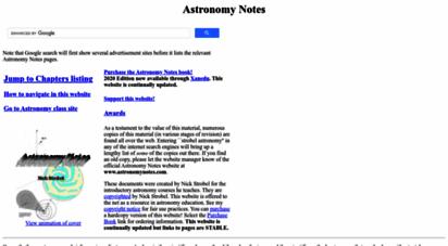 astronomynotes.com - astronomy notes