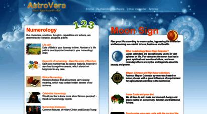 astrovera.com - astrology, numerology, lunar calendar