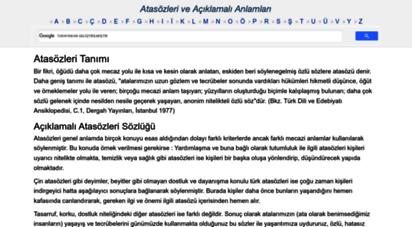 atasozlerianlamlari.com - atasözleri ve anlamları açıklamalı atasözü deyimler sözlüğü