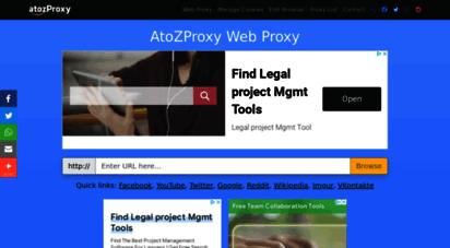 atozproxy.com - unblock youtube proxy - atozproxy free ssl web proxy