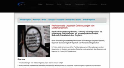 ats-group.net - ungarische übersetzungen - ats übersetzungsbüro - ungarisch deutsch übersetzer