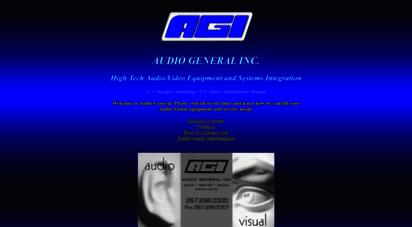 audiogeneral.com - audio general inc.