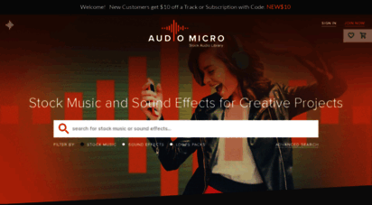 audiomicro.com - stock music and sound effects  audiomicro