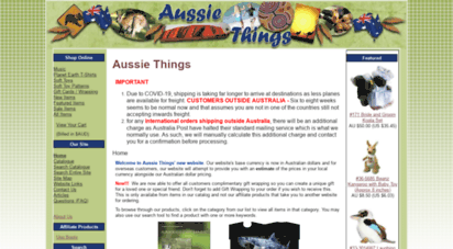 aussiethings.com.au - aussie things :: for great australian gift ideas. eg. toys - platypus, wombats koalas kangaroos - shirts - australiana wildlife - lanolin products - music - tony o´connor - relaxation music ugg boots - uggs slippers moccasins