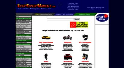 auto-repair-manuals.com - auto repair manuals for car, truck, motorcycle, atv, & marine manuals, obd scanners, & more!