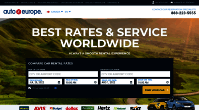 autoeurope.ca - auto europe discount car rentals, airfare, and hotels