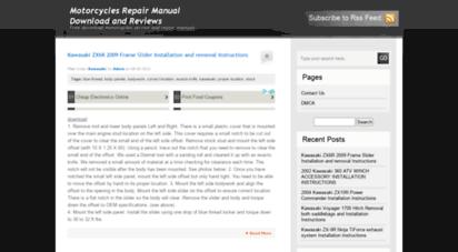 autorepairmagz.com - motorcycles repair manual download and reviews