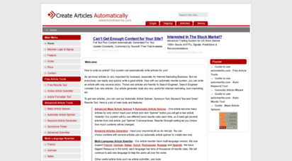 autorewrite.com - automatically write articles for free  autorewrite.com - home