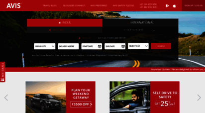 Welcome To Avis Co In Rent A Car Car Rental Online In