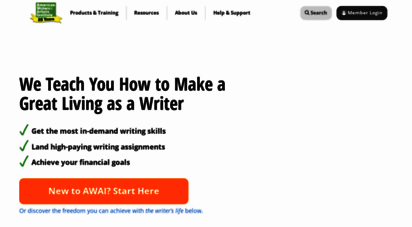 awai.com - awai - american writers and artists institute - expert help on writing for money and freelance writing jobs