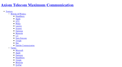 Welcome to Axiomplus net - Axiom Telecom - Maximum Communication