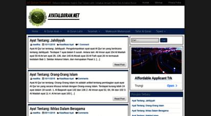 ayatalquran.net - al quran terjemah - bahasa indonesia, inggris, dan tulisan latin. lengkap dengan tafsir dan asbabun nuzul