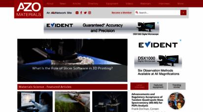 azom.com - material science  news  materials engineering  news