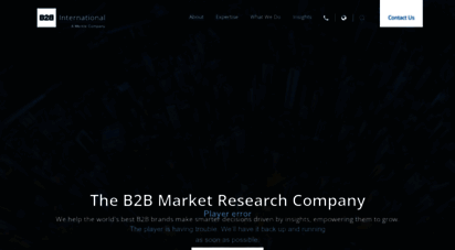 b2binternational.com - b2b market research company  b2b international