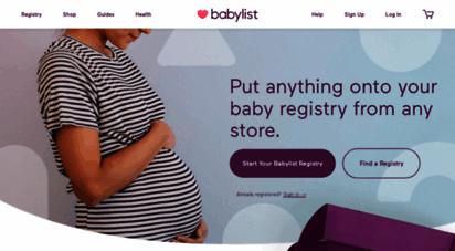 babylist.com - baby registry babylist