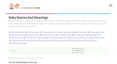 babynamemeaningz.com - baby names and meanings
