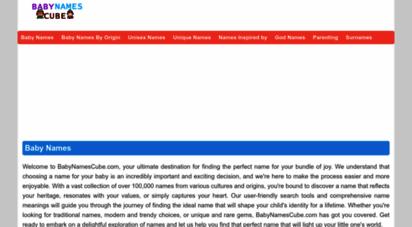babynamescube.com - baby names and baby name meanings: babynamescube.com