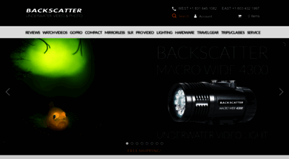 backscatter.com - backscatter : underwater camera, underwater video housing, underwater photography, waterproof camera