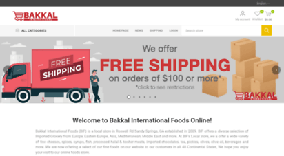 bakkalinternational.com - bakkal international foods online