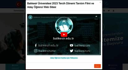 balikesir.edu.tr - balıkesir üniversitesi