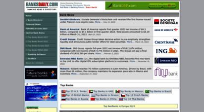 banksdaily.com - bank directory  bank news