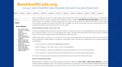 bankswiftcode.org - list of bank swift codes and bic code for all banks in the world