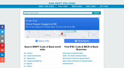 bankswiftifsccodes.com - swift codes ifsc codes bsr code bic code of banks - bankswiftifsccodes.com