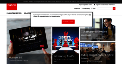 barco.com - inspired sight and sharing solutions - barco