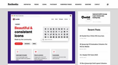 bashooka.com - bashooka  graphic and web design examples to inspire your creativity