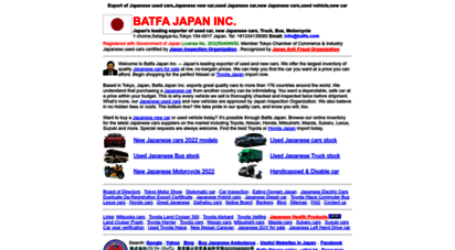 batfa.com - japanese new and used car, cars for sale, toyota, honda japan