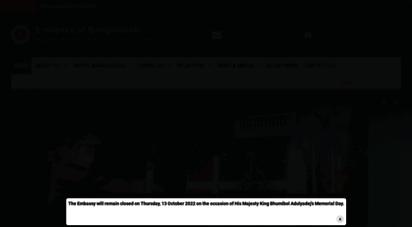 bdembassybangkok.org - embassy of bangladesh - bangkok, thailand