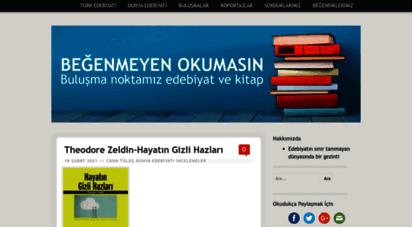 begenmeyenokumasin.com - beğenmeyen okumasin: buluşma noktamız edebiyat ve kitap