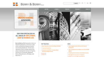 berrylegal.com - security clearance lawyers - mspb attorneys - virginia employment attorneys - berry & berry, pllc