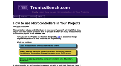 best-microcontroller-projects.com - the best microcontroller projects and resources.
