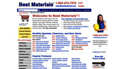bestmaterials.com - best materials ®  roofing supplies, roofing materials, caulking, sealants, backer rod, waterproofing, rubber roofing, masonry supplies, building supplies