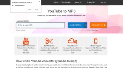 bestvideoconverter.net - free youtube to mp3 converter. youtube converter to mp3 or mp4