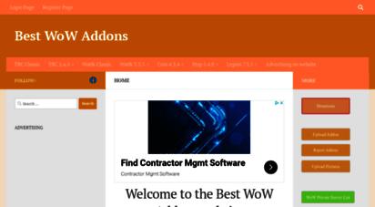 bestwowaddons.com - best wow addons - for  tbc  wotlk 3.3.5  cata 4.3.4  mop 5.4.8 best wow addons