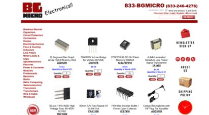 bgmicro.com - bgmicro electronics - parts, kits, projects, surplus, diy, hobby