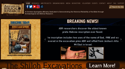 biblearchaeology.org - home - ssociates for biblical research