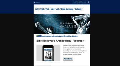 biblehistory.net - bible history - bible believer´s archaeology book