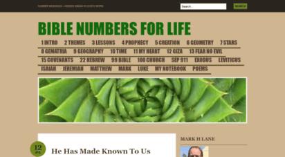 biblenumbersforlife.com - bible numbers