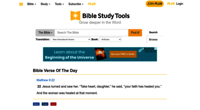 biblestudytools.com - read & study the bible - daily verse, scripture by topic, stories