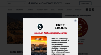 biblicalarchaeology.org - home - biblical archaeology society