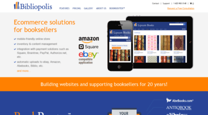 bibliopolis.com - bibliopolis  used, rare, and out-of-print books  building independents.