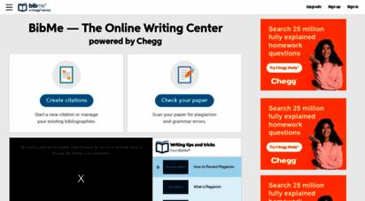 bibme.org - bibme: free bibliography & citation maker - mla, apa, chicago, harvard