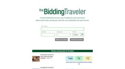 Welcome To Biddingtraveler Com Bidding Traveler Priceline Bidding Better Bidding For Travel Hotels
