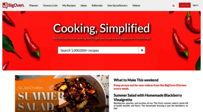 bigoven.com - 500,000 recipes, meal planner and grocery list  bigoven