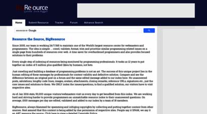 bigresource.com - project bigresource :: resource center for web programmers & developers