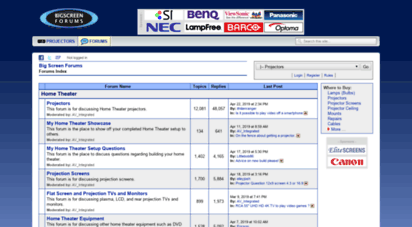 bigscreenforums.com - big screen forums: forums index