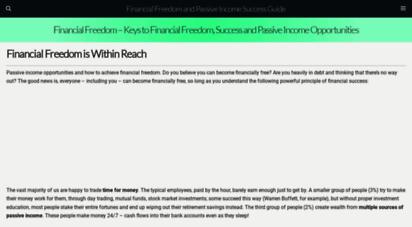 billiondollarincome.com - financial freedom - keys to financial freedom, success and passive income opportunities